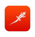 lizard icon digital red vector image vector image