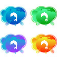 logo concept icon dolphin on color background ve vector image