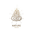 logo forest lake vector image vector image