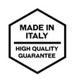 made in italy label on white vector image