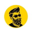 man with beard in the form of hop emblem