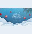 merry christmas happy new year invitation vector image