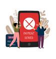 online payment error vector image