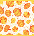 orange yellow pumpkins texture seamless vector image vector image