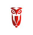 owl abstract bird logo vector image vector image