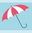parasol opened accessory with handle sign vector image