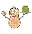 Peanut Cartoon with a Peanut Butter Spread vector image vector image