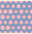 Pink dots on blue bacgkround seamless vector image vector image