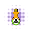 Poison bottle icon comics style vector image vector image