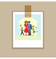 Portrait family posing together vector image vector image