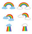rainbow icon on white background flat style vector image vector image