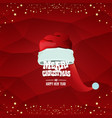 red santa hat label isolated on red vector image