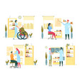 regular medical examination in consulting room vector image vector image