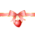 ribbon and heart gift of love vector image