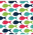 seamless pattern with color fishes vector image