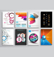set flyer design infographics brochure designs vector image