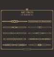 set of art deco gold calligraphic page dividers vector image vector image