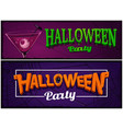 set of halloween party banners design templates vector image