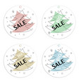 set of trendy round flat geometric labels vector image
