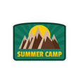 summer camp logo flat style vector image vector image