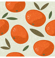 tangerine seamless pattern mandarin juicy vector image