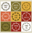 Thanksgiving day vintage gift tags and cards with vector image vector image