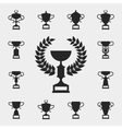 Trophy icons set vector image vector image