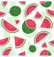 watermelon seamless pattern summer background vector image