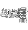 why are stock funds riskier than bond funds text vector image vector image