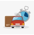 fast delivery set icons vector image