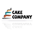 logotype for a confectioner vector image