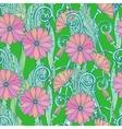 Seamless gerbera daisy flowers pattern or vector image