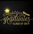 on black graduations background vector image