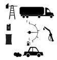 black icons on white background petrol filling vector image