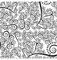 monochrome background with pattern of arabesques vector image