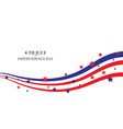 abstract ribbons flag banner July 4 Independence D vector image vector image