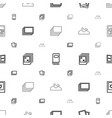 album icons pattern seamless white background vector image vector image