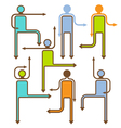 arrow people directional icons vector image vector image