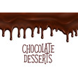 bakery chocolate desserts poster for cafe vector image vector image