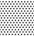 black dots on white background seamless pattern vector image vector image