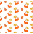 bunches of rowan and oak leaves seamless pattern vector image