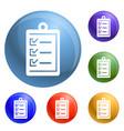 checklist icons set vector image vector image
