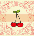 cherries fruits nutrition vector image vector image