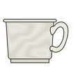 coffee cup in colored crayon silhouette on white vector image