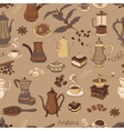 colored coffee seamless pattern vector image vector image