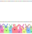 Colorful easter card with copy space EPS 8 vector image vector image