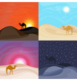 colorful sand desert landscape templates vector image