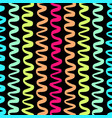colorful wavy lines pattern-14 vector image vector image