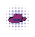 Cowboy hat icon comics style vector image vector image
