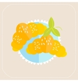 Croissant icon flat vector image vector image